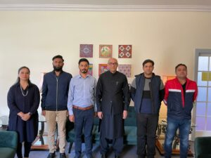 Ambassador Ahmed Farooq had a meeting with the visiting officers of Pakistan Air Force