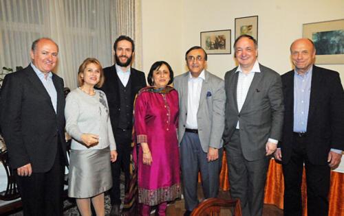 Ambassador Masroor Junejo at a reception at his residence