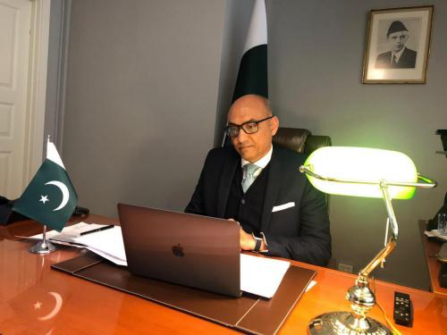 Virtual call on Danish Foreign Minister